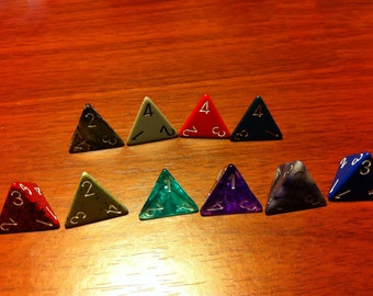 4 Sided Dice - Assorted