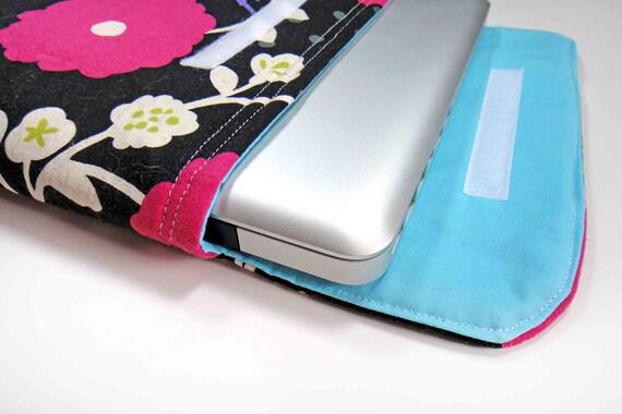 13 inch Bold Echino Bird Print Print Laptop Top Sleeve