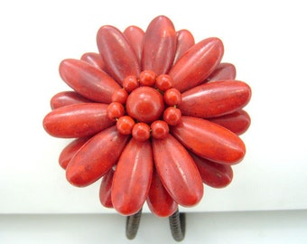 Flora red coral bangle