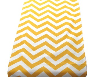 SUMMER TABLE RUNNER.Yellow Table Runner-Modern Yellow & White Chevron Table Cloth