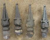 Vintage Cast Iron Finials