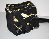 Camera Bag /  Camera Coozy / purse insert / Yellow Sparrow Black Canyon