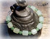 Mens Beaded Bracelet, Two Shades of Green Jade, Natural Stone, Handmade Mens Jewelry -  Beads of Balance