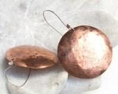 Medium Eos copper earrings