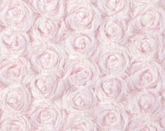 Light Pink Minky Rosette Swirls  - 1 Yard