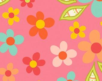 Sweet Nothings Floral Minky on Pink by Zoe Pearn, Riley Blake Design  - 1 yard