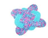 Crochet Hotpad - Vegan Blue and Pink Trivet - Hot pad - potholder