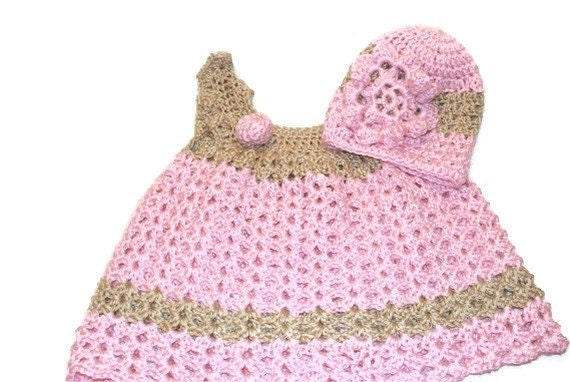 Crochet Baby Dress Christening DressNewborn Clothes Baby