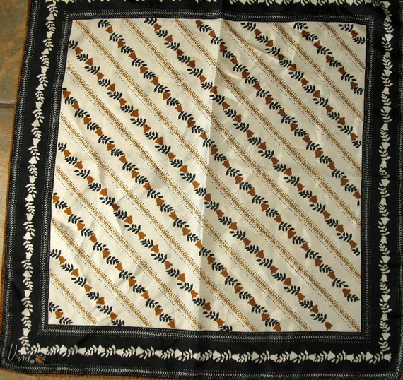Black Brown and Cream Scarf by Vera