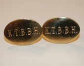 "Engraved ""KTBBH"" gold filled cufflinks"