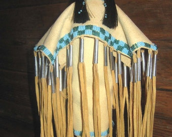 Blue Beads - Native American Made Doll