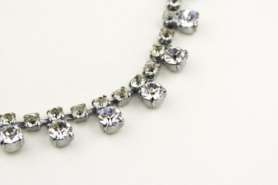 Vintage Clear Rhinestone Faceted 1960s Bridal Necklace