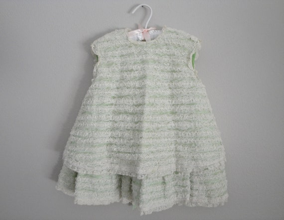 Vintage 50s or 60s Childrens Dress  1950s Toddler Party Dress