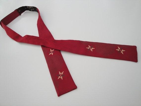 1950s Mens Silk Bow Tie  Adjustable  50s mens Accessory 1940s