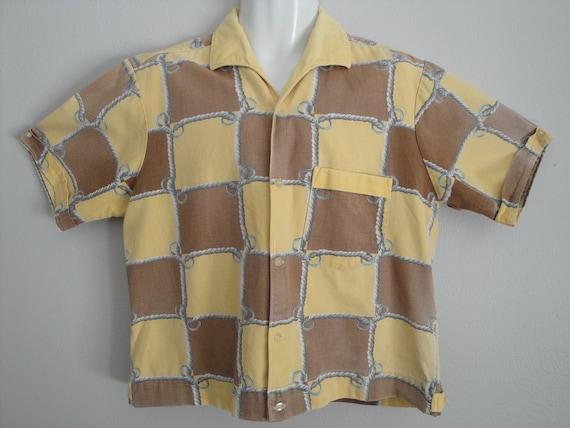 Vintage 1950s Men's Shirt 50s Shirt Jac Rockabilly VLV Size M L