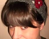 "The ""Snowberry"" crochet headband"