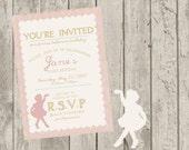 Ballerina Birthday Invite