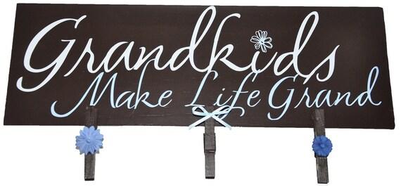Grandkids Make Life Grand Picture Frame Wood Board
