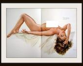 "VARGAS Girl Playboy Pinup Nude Art Print ""Two Timer"" Vintage Wall Decor, Mature"