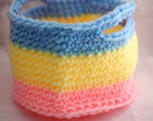 Crochet Basket- Storage Bin for Baby Rooms