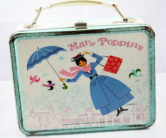 1965 Mary Poppins Metal Lunchbox
