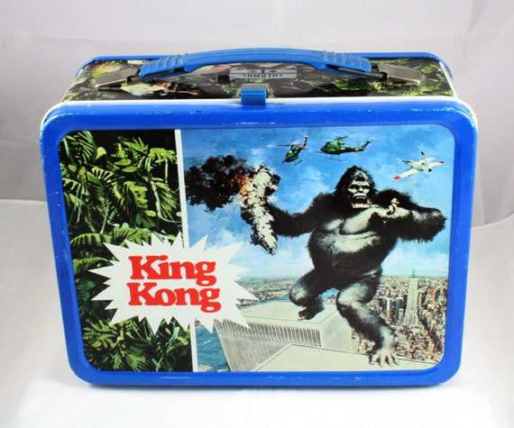 1977 King Kong lunchbox with thermos