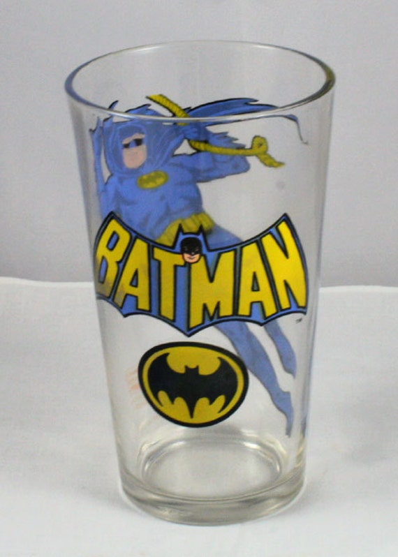 "1978 Pepsi Batman DC Comic Collector Series ""Batman"" glass"