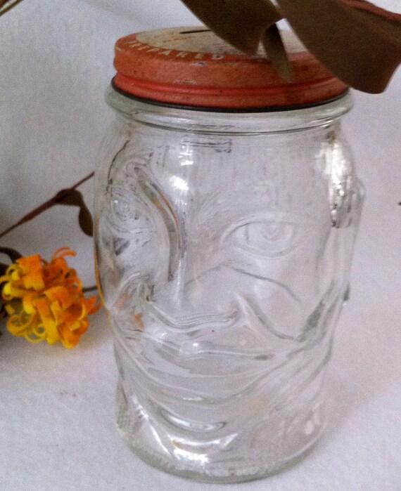 Vintage Lucky JOE LEWIS Nash's  Mustard Jar Bank