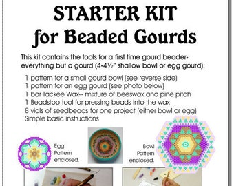Starter Kit (Set B)For Beaded Gourds, Bowls, or Eggs
