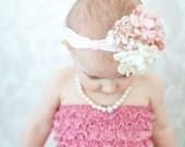 Silk peony flower hair accessories