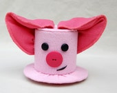 Tiny Top Hat: Little Piggy - Lolita Cosplay Costume Party Fascinator Photo Photography Prop Wedding Tophat Small Mini Miniature little