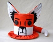 Tiny Top Hat: The Fox - Orange Black White cute adorable kawaii fuzzy animal creature children photo prop woods forest foxes