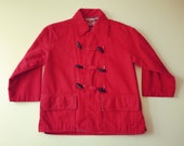 VTG Tops N Togs Peacoat, red - Size 5 (child)