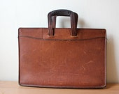 Leather Briefcase - Vintage Schlesinger Brothers