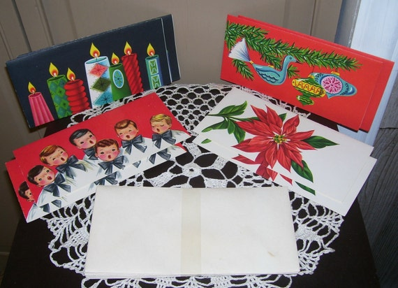 Vintage Christmas Cards and Envelopes in Original Box