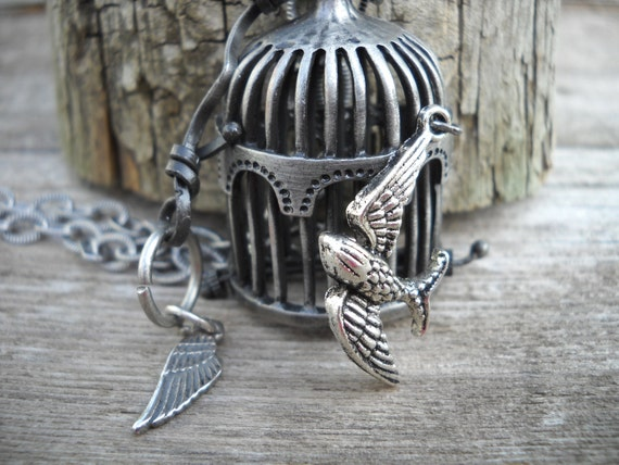 Think Outside the Cage Pendant Necklace