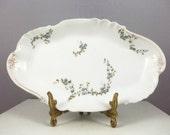 LIMOGES HAVILAND Serving Dish- Hand Painted Porcelain Serving Tray FRANCE