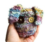 Cute Monster Plush - Knitted Amigurumi 'Stress Ball' Soft Sculpture ('Mugwump')