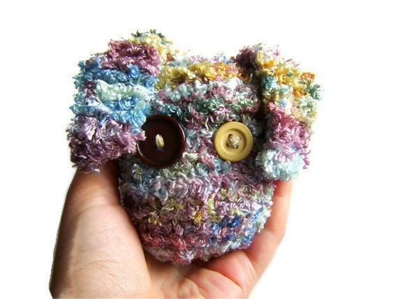 Cute Monster Plush Knitted Amigurumi Stress Ball by ...