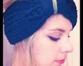 ALENA cotton Headband - 100% cotton in dark navy and khaki