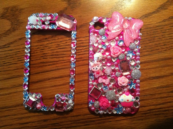Pink Girly Deco Case for iPhone 4