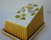 Vintage Retro 1950's Floral Butter Cheese Dish - Kitchenalia
