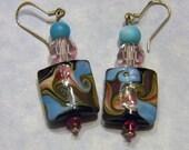 Art Glass, Gemstone & Crystal Earrings