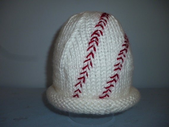 Items similar to knitted baby BASEBALL hat on Etsy
