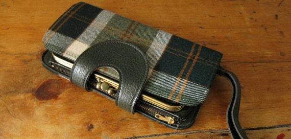 SALE 50% OFF - Vintage 1960s/70s Wool Plaid Wallet/Purse //AC18