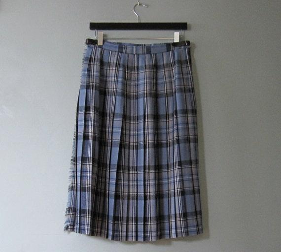 SALE 50% OFF - Vintage Kilt, Tartan/Plaid/Pure Wool/Scotland //MCL16