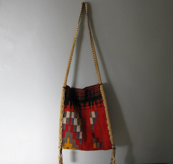 SALE 25% OFF - Vintage Southwestern Bag - Mexican/Carpet Bag/Hippie/Boho/Navajo //AC3