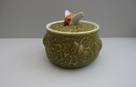 SALE 50% OFF - Vintage Ceramic Pot - Mid Century/ Bumble Bee //MKT17