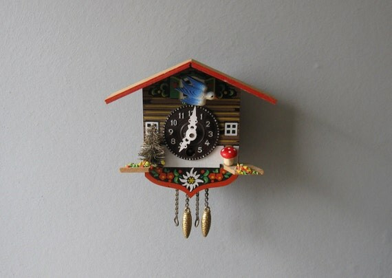 Vintage Cuckoo Clock Made in Germany - Kitsch //SO12