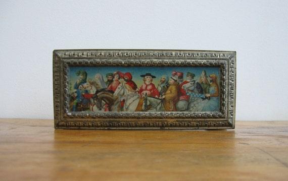 SALE 50% OFF - Antique Glove Box Circa 1910 - Chocolate Box/Biscuit Tin/Keepsake/Trinket Box //HG13